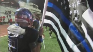 Local Brazoria County Football team ditched school colors for 'Back The Blue' jerseys